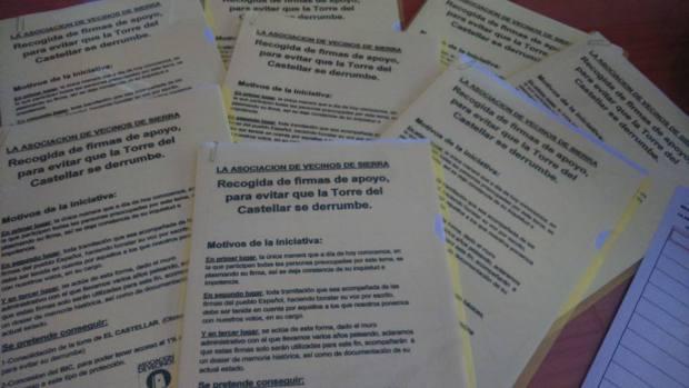 Recogida de firmas para la conservacion del Castellar - Asociacion de Vecinos de Sierra - vecinosdesierra